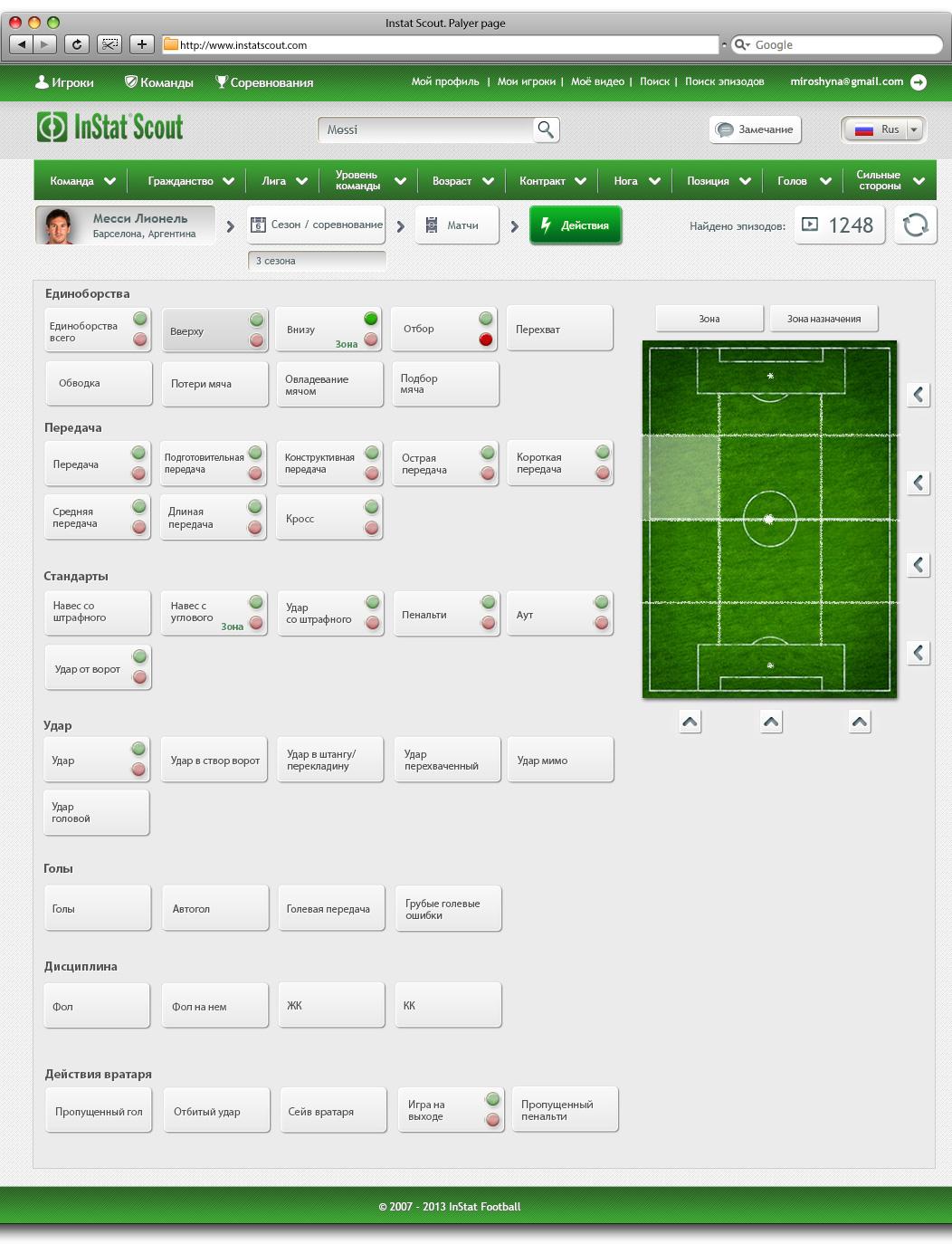 Soccer statistics portal and CRM system   Mariya Miroshyna